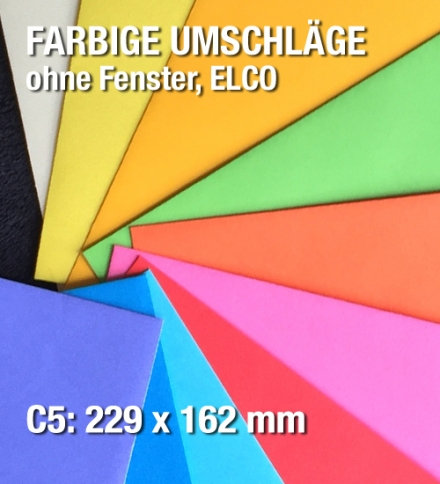 Farbige C5-Kuverts, ELCO